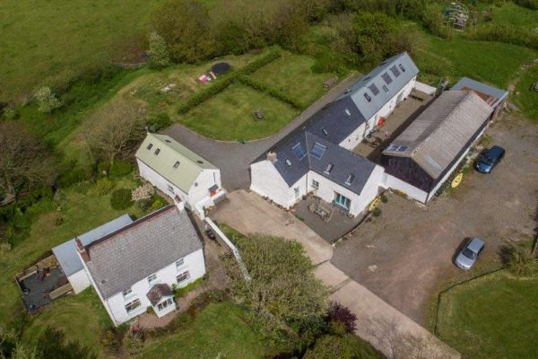 Cottages aerial view