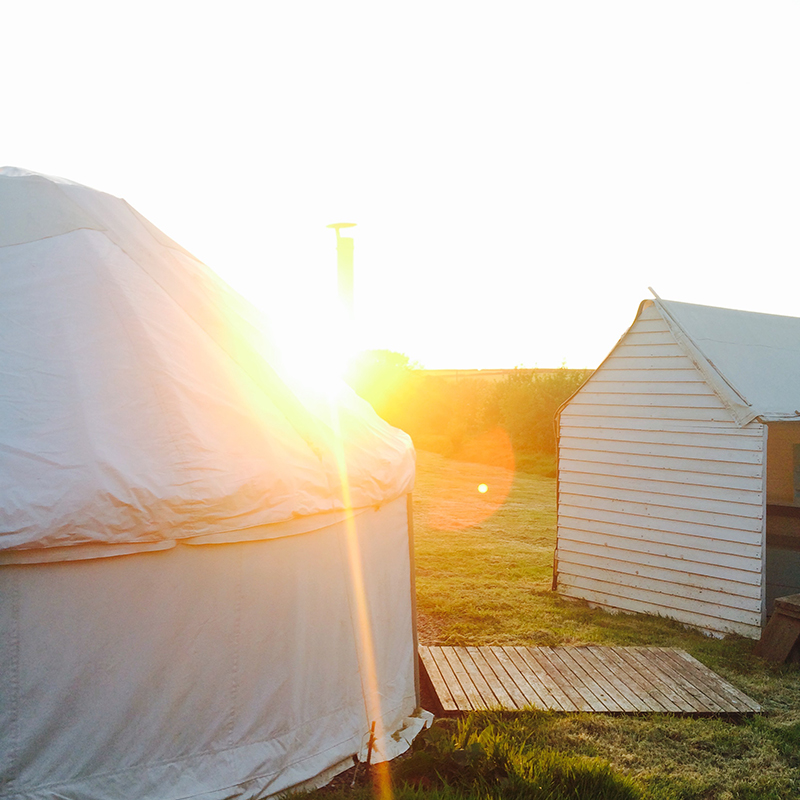 Yurts now up and running